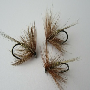 March Brown Spider Dry Fly Barbless