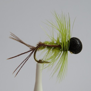 Olive Booby Hopper Dry Fly