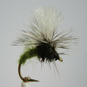olive klinkhammer dry fly