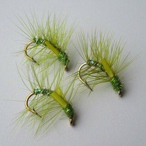 olive pearly snatcher wet flies