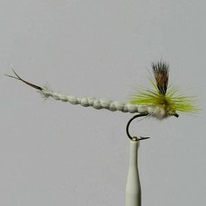 Mayfly Parachute White Dry Fly
